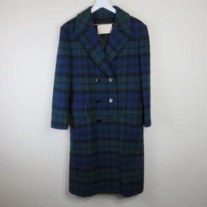 Pendleton Vintage Wool Plaid Overcoat Women's - 10